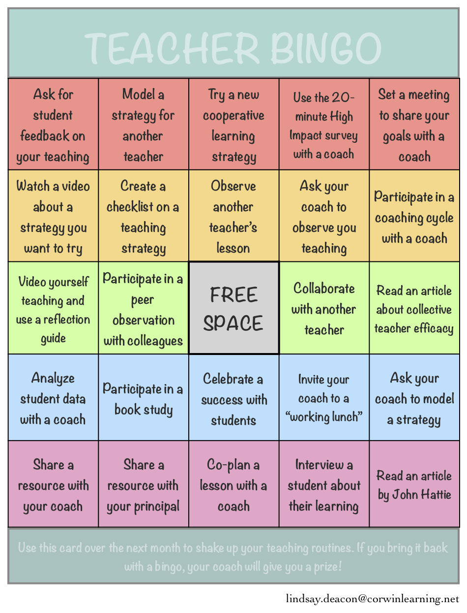 Teacher Bingo