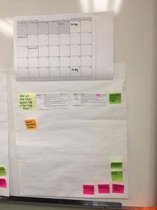 Laural Matthews using a calendar