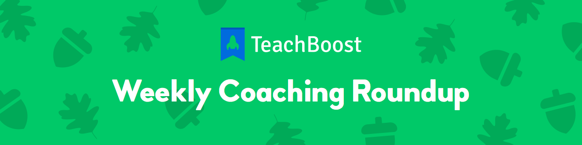 Weekly Coaching Roundup - November 2019 (Half) (Seasonal)