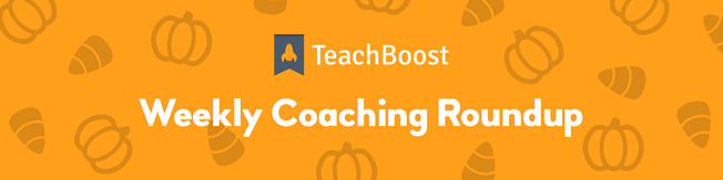 Weekly Coaching Roundup - October 2019 (Half) (Seasonal)