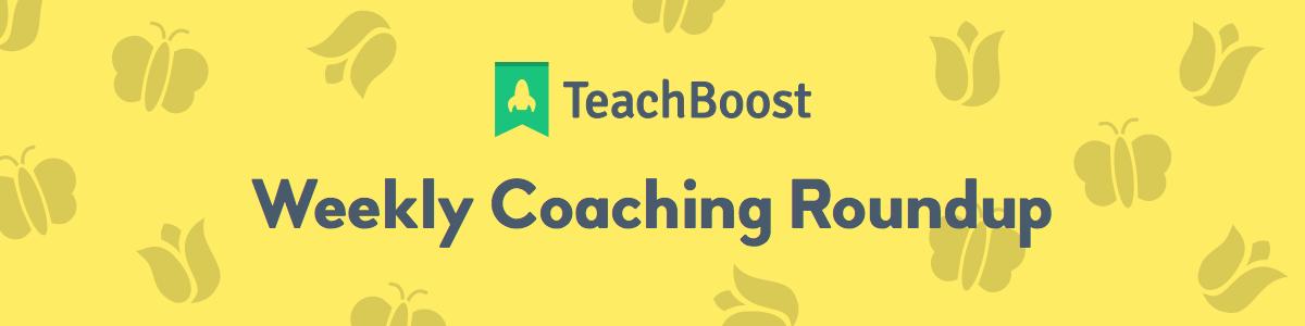 Weekly Coaching Roundup - May 2020 (Half) (Seasonal)
