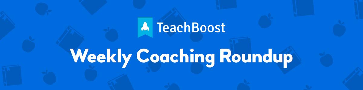 Weekly Coaching Roundup - January 2020 (Half)