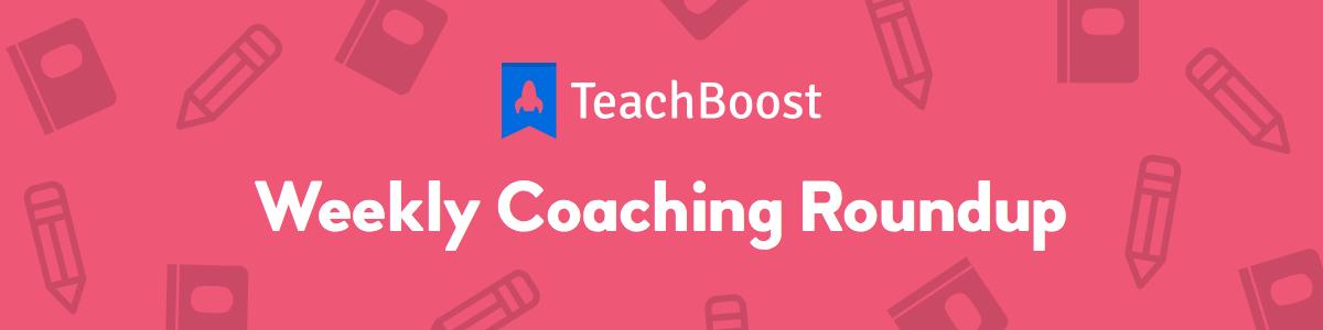 Weekly Coaching Roundup - September 2019 (Half) (Seasonal)