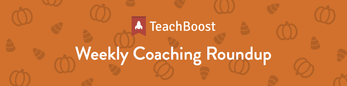 Weekly Coaching Roundup 10-08-2018 (Half) (Seasonal)
