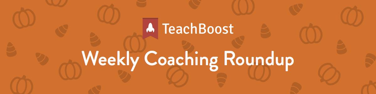 Weekly Coaching Roundup 10-08-2018 (Half) (Seasonal)