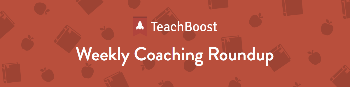 Weekly Coaching Roundup 11-12-2018 (Half)